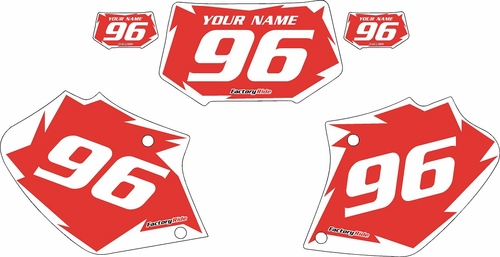 1996-2004 Honda XR400 Pre-Printed Backgrounds Red - White Shock Series by Factory Ride