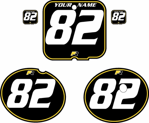 1981 Suzuki RM250 Black Pre-Printed Backgrounds - Yellow Pinstripe by FactoryRide
