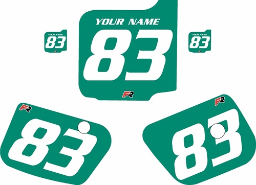 1983 Husqvarna CR125 Custom Pre-Printed Background Green - White Numbers by Factory Ride