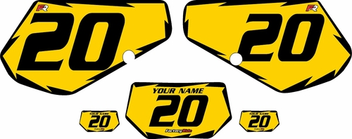 1991-1994 Kawasaki KDX250 Custom Pre-Printed Background Yellow - Black Shock by Factory Ride