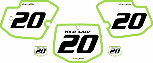 1996-2004 Kawasaki KX500 Pre-Printed Backgrounds White - Green Bold Pinstripe by FactoryRide
