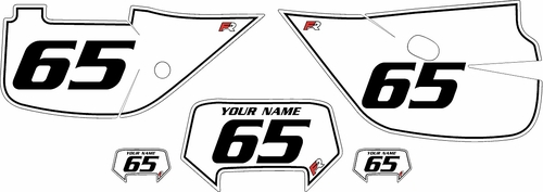 1992-2009 Honda XR650L White Pre-Printed Backgrounds - Black Pinstripe by FactoryRide