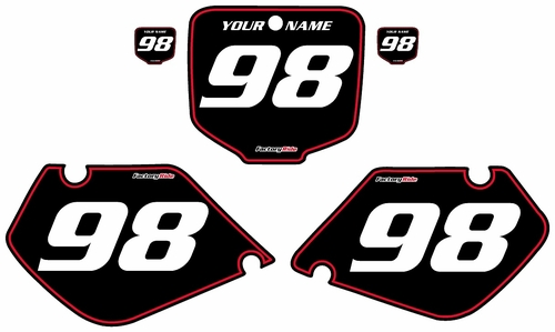 1998-1999 Honda CR125 Pre-Printed Backgrounds Black - Red Pinstripe by FactoryRide