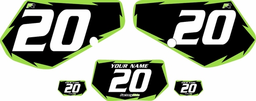 1991-1994 Kawasaki KDX250 Custom Pre-Printed Background Black - Green Shock by Factory Ride