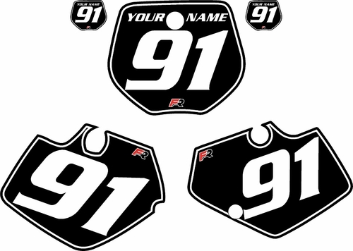 1991-1992 Yamaha YZ125 Custom Pre-Printed Black Background - White Pinstripe by Factory Ride