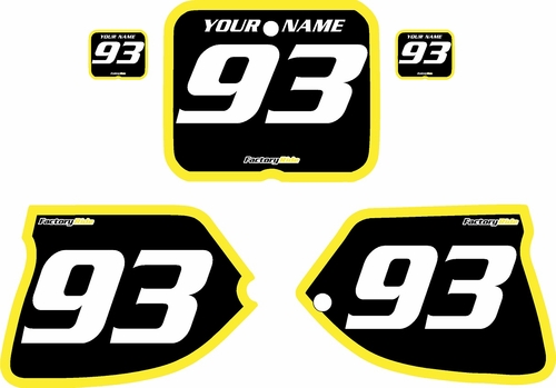 1993-1995 Suzuki RM125 Pre-Printed Backgrounds Black - Yellow Bold Pinstripe by FactoryRide