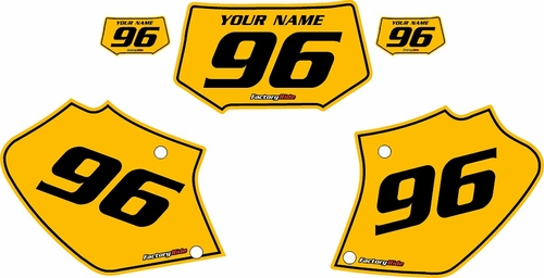 Honda XR400 1996-2004 Pre-Printed Backgrounds Yellow - Black Pinstripe by Factory Ride