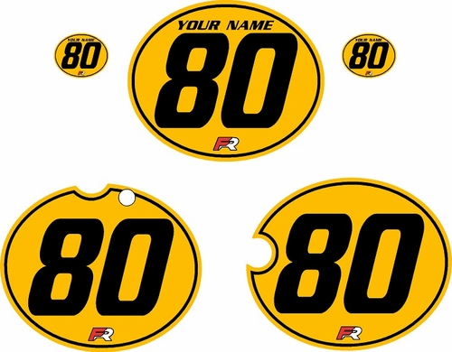 1980-1981 Yamaha YZ250 Custom Pre-Printed Yellow Background - Black Pinstripe by Factory Ride