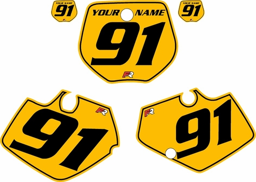 1991-1992 Yamaha YZ250 Custom Pre-Printed Yellow Background - Black Pinstripe by Factory Ride