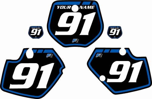 1991-1992 Yamaha YZ250 Custom Pre-Printed Background Black - Blue Retro by Factory Ride