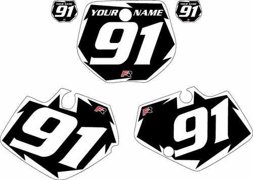 1991-1992 Yamaha YZ250 Custom Pre-Printed Black Background - White Shock Series by Factory Ride