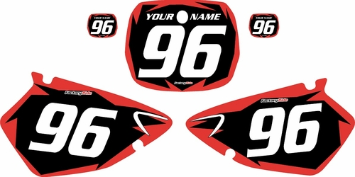 1996-1999 Yamaha YZ125 Custom Pre-Printed Background Black - Red Shock Series by Factory Ride