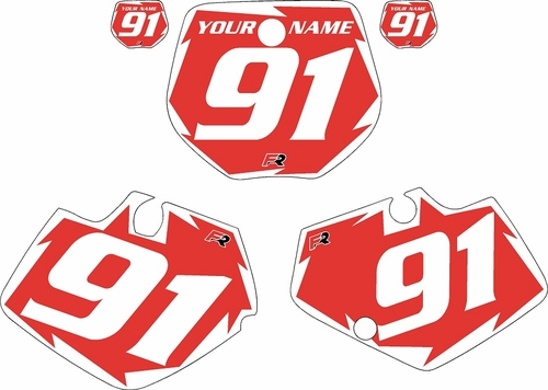 1991-1992 Yamaha YZ250 Custom Pre-Printed Red Background - White Shock Series by Factory Ride