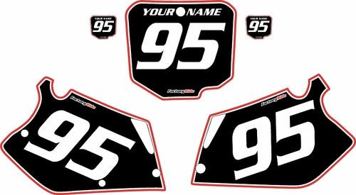 1995-1997 Honda CR125 Pre-Printed Backgrounds Black - Red Pro Pinstripe by FactoryRide