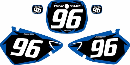 1996-1999 Yamaha YZ125 Custom Pre-Printed Background Black - Blue Shock Series by Factory Ride
