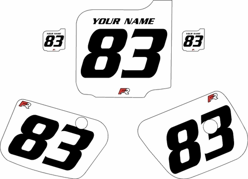 1983 Husqvarna CR250 Custom Pre-Printed Background White - Black Numbers by Factory Ride
