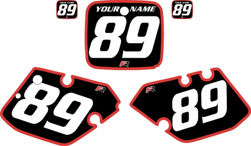 1989-1990 Yamaha YZ250 Custom Pre-Printed Black Background - Red Bold Pinstripe by Factory Ride