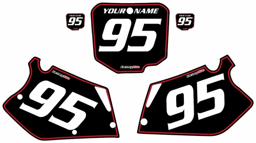 1995-1997 Honda CR125 Pre-Printed Backgrounds Black - Red Pinstripe by FactoryRide