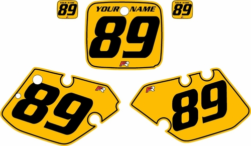 1989-1990 Yamaha YZ250 Custom Pre-Printed Yellow Background - Black Pinstripe by Factory Ride