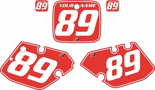 1989-1990 Yamaha YZ250 Custom Pre-Printed Red Background - White Pinstripe by Factory Ride
