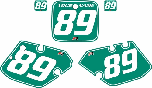 1989-1990 Yamaha YZ250 Custom Pre-Printed Green Background - White Pinstripe by Factory Ride