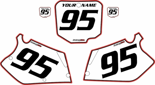 1995-1997 Honda CR125 Pre-Printed Backgrounds White - Red Pro Pinstripe by FactoryRide