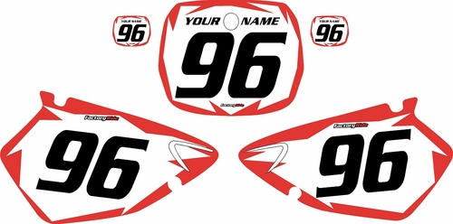 1996-1999 Yamaha YZ125 Custom Pre-Printed Background White - Red Shock Series by Factory Ride