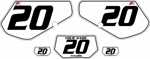 1991-1994 Kawasaki KDX250 Custom Pre-Printed Background White - Black Pinstripe by Factory Ride