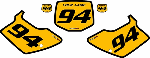 1994-1998 Kawasaki KX250 Custom Pre-Printed Yellow Background - Black Bold Pinstripe by Factory Ride
