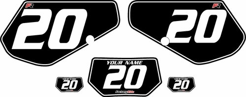 1991-1994 Kawasaki KDX250 Custom Pre-Printed Background Black - White Pinstripe by Factory Ride