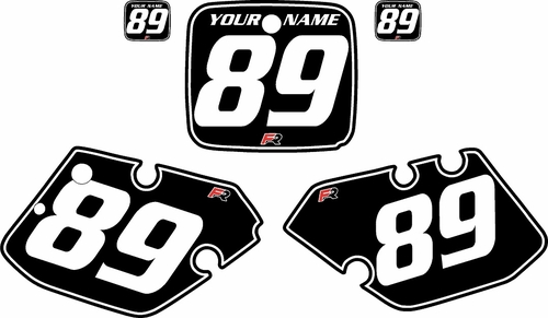 1989-1990 Yamaha YZ250 Custom Pre-Printed Black Background - White Pinstripe by Factory Ride