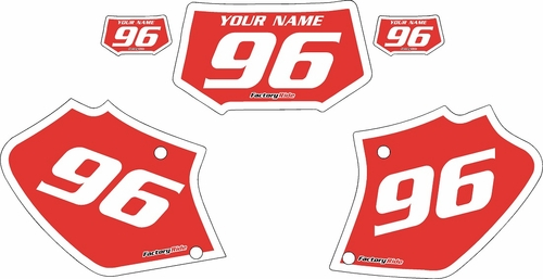 1996-2004 Honda XR250 Pre-Printed Backgrounds Red - White Bold Pinstripe by FactoryRide