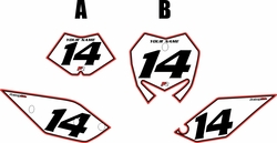 2017 Beta 125 RR-S Pre-Printed Backgrounds White - Red Pro Pinstripe by FactoryRide