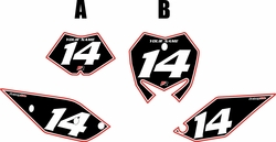 2017 Beta 125 RR-S Pre-Printed Backgrounds Black - Red Pro Pinstripe by FactoryRide