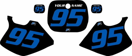 1993-1995 Yamaha YZ250 Custom Pre-Printed Black Background - Blue Numbers by Factory Ride