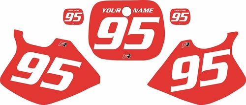 1993-1995 Yamaha YZ250 Custom Pre-Printed Red Background - White Numbers by Factory Ride