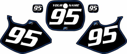 1993-1995 Yamaha YZ250 Custom Pre-Printed Black Background - Blue Pinstripe by Factory Ride