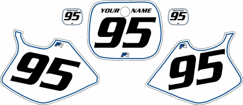 1993-1995 Yamaha YZ250 Custom Pre-Printed White Background - Blue Pinstripe by Factory Ride