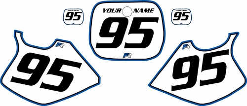 1993-1995 Yamaha YZ250 Custom Pre-Printed Background White - Blue Pro Pinstripe by Factory Ride