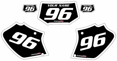 1996-2004 Honda XR250 Black Pre-Printed Background - White Bold Pinstripe by FactoryRide