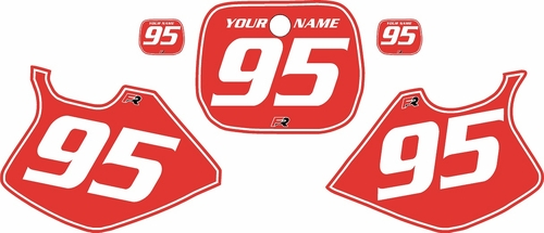 1993-1995 Yamaha YZ250 Custom Pre-Printed Red Background - White Pinstripe by Factory Ride