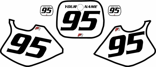 1993-1995 Yamaha YZ250 Custom White Pre-Printed Background - Black Bold Pinstripe by Factory Ride