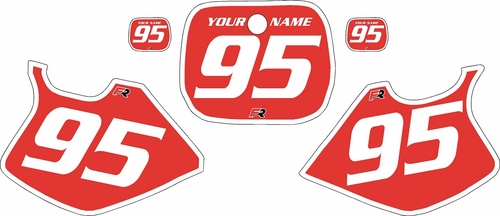 1993-1995 Yamaha YZ250 Custom Pre-Printed Red Background - White Bold Pinstripe by Factory Ride