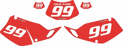 1994-1996 Kawasaki KLX250 Red Pre-Printed Backgrounds - White Numbers by FactoryRide