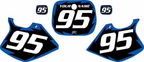 1993-1995 Yamaha YZ250 Custom Pre-Printed Black Background - Blue Shock Series by Factory Ride
