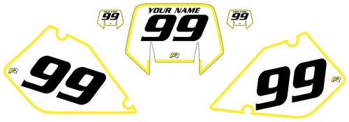 1996-2001 Suzuki RMX250 Pre-Printed Backgrounds White - Yellow Bold Pinstripe by FactoryRide