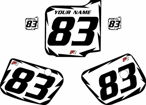 1983 Husqvarna CR250 Custom Pre-Printed Background White - Black Shock Series by Factory Ride