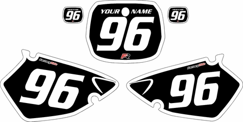 1996-1999 Yamaha YZ125 Custom Black Pre-Printed Background - White Bold Pinstripe by Factory Ride