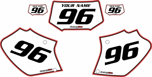 1996-2004 Honda XR250 Custom Pre-Printed Background White - Red Pro Pinstripe by Factory Ride