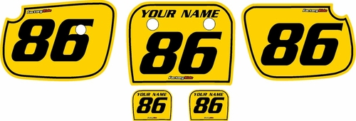 1986-2004 Kawasaki KX60 Custom Pre-Printed Background Yellow - Black Pinstripe by Factory Ride